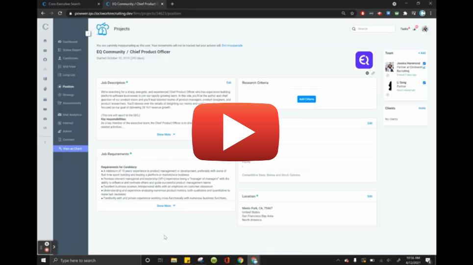Clockwork Job Posts Feature Video Guide